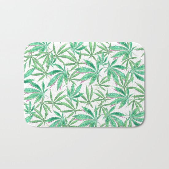 420 Leaves Bath Mat