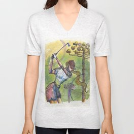 wonder shot golfer gof Unisex V-Neck