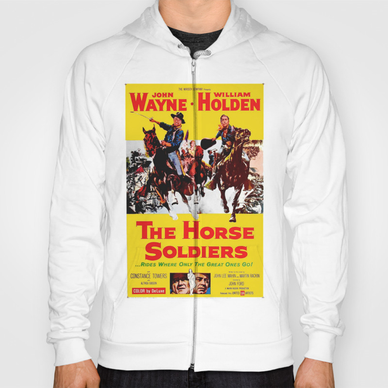 Vintage Movie Posters, The Horse Soldiers Hoody by Esotericaartagency SSR8648385