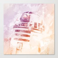 r2d2 Canvas Prints featuring R2D2 by eARTh