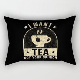 Tea Lover Tea Gifts Tea Saying Rectangular Pillow