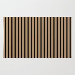 Iced Coffee and Black Stripes Rug