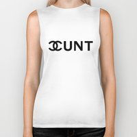 cunt Biker Tanks featuring Couture Cunt by RexLambo