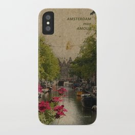 Amsterdam mon amour iPhone Case