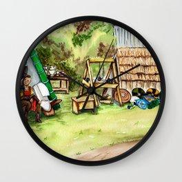 Viking Encampment Wall Clock