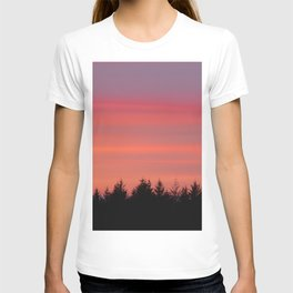 Fire Sky Over The Forest - 76/365 T-shirt