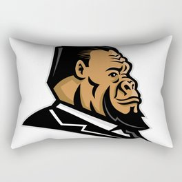 Well-Groomed Gorilla Mascot Rectangular Pillow