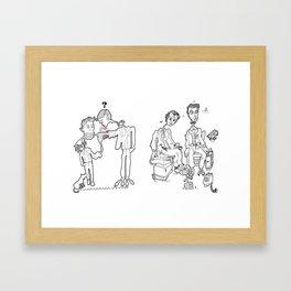 Io mordo, tu mordi, egli morde, Framed Art Print