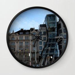 The Dancing House in Prague by Frank Grehry Wall Clock