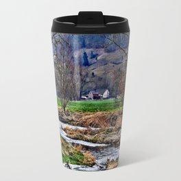Winter am Fluss Travel Mug