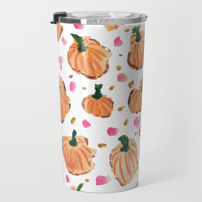 Watercolor Pumpkins Travel Mug