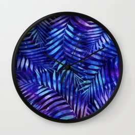 Violet jungle vibes Wall Clock