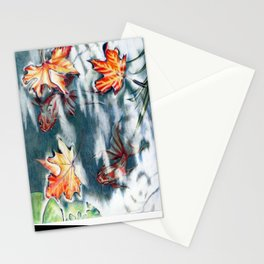 fish and leaves Stationery Cards