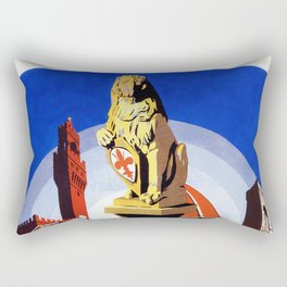 Florence Firenze travel, lion statue Rectangular Pillow