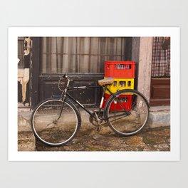 Worn Bicycle Art Print