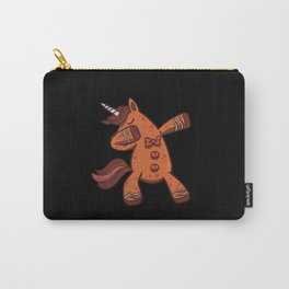 Dabbing Unicorn Gingerbread for Christmas Carry-All Pouch