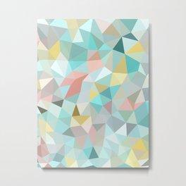 Pastel Tris Metal Print