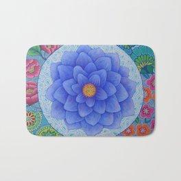 Violet Flower Mandala Bath Mat