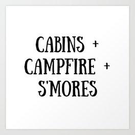 Cabins Campfire Smores Art Print