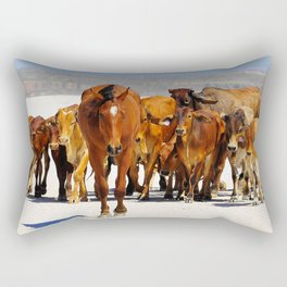 Leading the mob home Rectangular Pillow