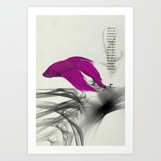 Fish never sleep Art Print