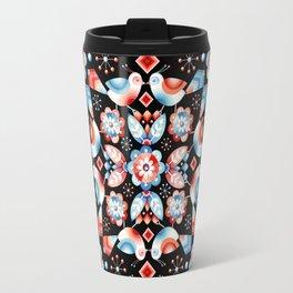 Folkloric Ombre Lovebirds Travel Mug