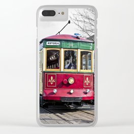 Trolley Streetcar Clear iPhone Case