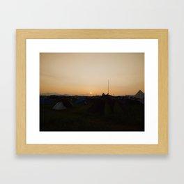 Sunrise in Japan Framed Art Print