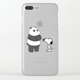 snoopy and we bare bears Clear iPhone Case