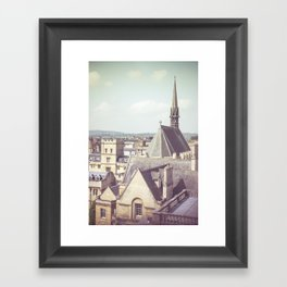 Oxford roofs Framed Art Print