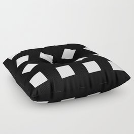 Geometric Pattern #32 (black white squares) Floor Pillow