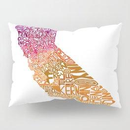 Typographic California - Autumn Pillow Sham