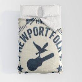 1959 Newport Folk Festival Emblem Poster Comforters