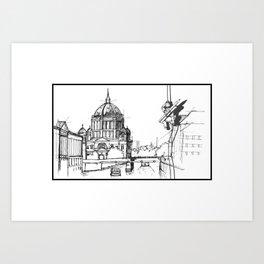 Sketching  Art Print