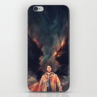 angel iPhone & iPod Skins featuring The Angel of the Lord by Alice X. Zhang