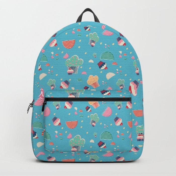 Cupcake blue Backpack