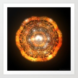The Eye of Cyma: Fire and Ice - Frame 7 Art Print