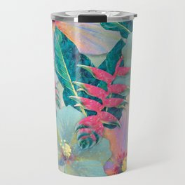 Aqua Ginger Alohas Travel Mug