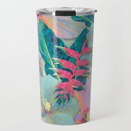 Aqua Ginger Alohas Travel Mug