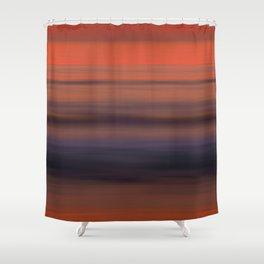 Torrey Pines Sunset Long Exposure Panorama Sweep Shower Curtain