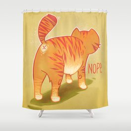Nope. Shower Curtain