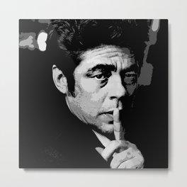 Benicio del Toro 7 Metal Print