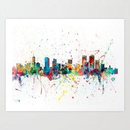 Denver Colorado Skyline Art Print