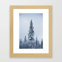 First Snow Fog Framed Art Print