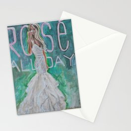 Rosé All Day Stationery Cards
