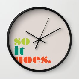 So It Goes Wall Clock