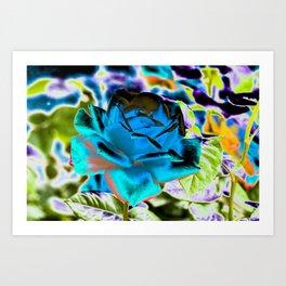 Azure Rose Art Print