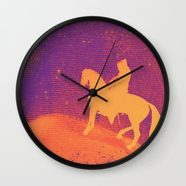 Pop knight in the starry nigth Wall Clock