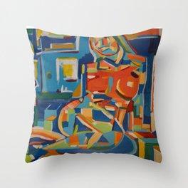 Reclining Figure - 2005 Throw Pillow