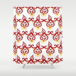 Firery Sprite Pattern Shower Curtain